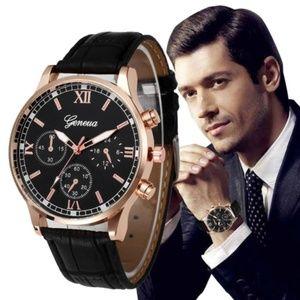 Other - ⌚️NEW⌚️ Luxury Geneva Leather Strap Quartz Watch
